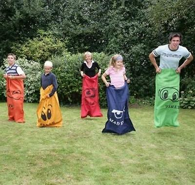 Sack Race Set. Garden Game, 5 Large Sacks Adult Racing. Next Day Delivery - New