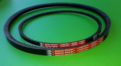 "New 8"" Lagler Hummel Floor Sanding Sander OEM Metric Drum Belt & Fan V-Belts"