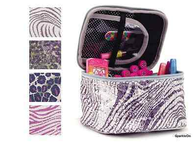 Girls Cosmetic Bag with Sequins in Safari Colors