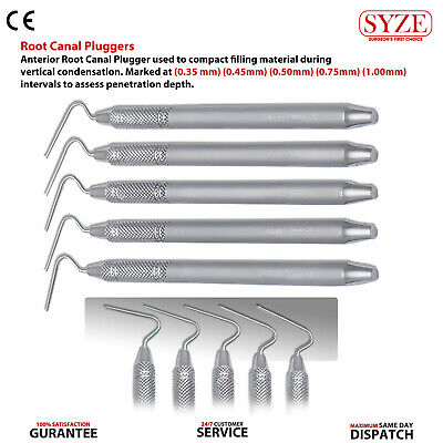Root Canal Plugger 8mm Halo Endodontic Pluggers 6pcs Dental Lab Instruments New