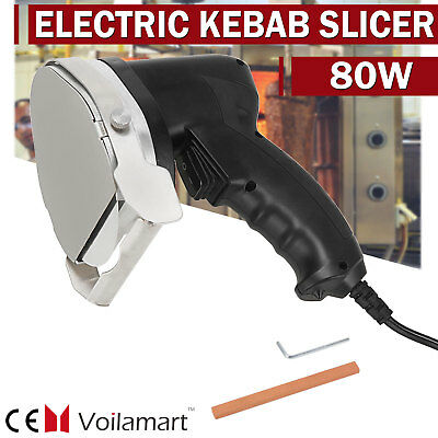 Voilamart Commercial Kebab Doner Slicer Knife Electric Meat Carver Utensils