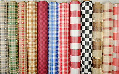 Wipe Clean Tablecloth Oilcloth Vinyl PVC Chequered Checks 140cm wide