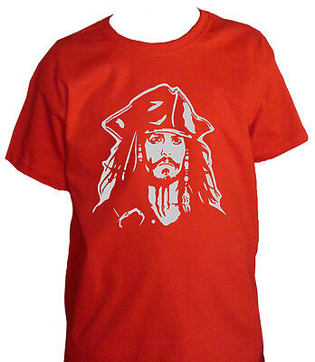fm10 t-shirt bambino JACK SPARROW pirati dei caraibi Johnny Depp CINEMA&TV