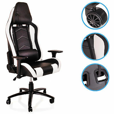 Office Pc Computer Racing Gamer Gaming Luxury Reclining Sport Recliner Chair