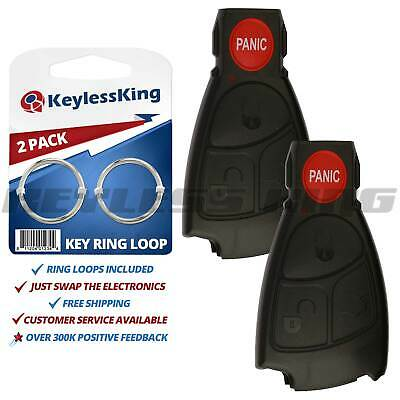 2 Replacement Smart Key Remote Keyless Case Button Shell Pad Fix Prox Intell