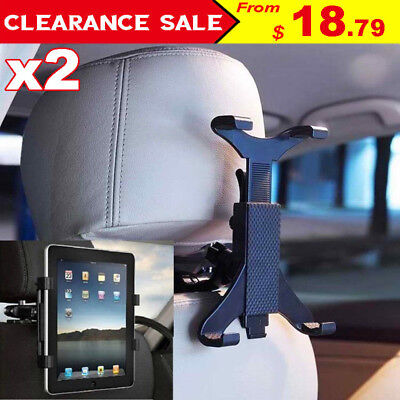 """2x Car Seat Headrest Mount Holder Stand Grip For iPad 4 3 2 Samsung Tablet 7-10"""""""