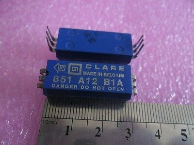 2pcs of Clare 851-A12-B1A EPOXY MOLDED WETTED REED RELAY 6-Pin SPST N.O. 12VDC