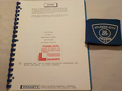 Dranetz Tm-110390A Vol. 1  Ac Neutral Monitor Operators Manual
