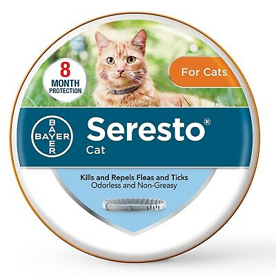 Seresto Flea and Tick Collar for Cats 8 Months Genuine USA EPA Approved