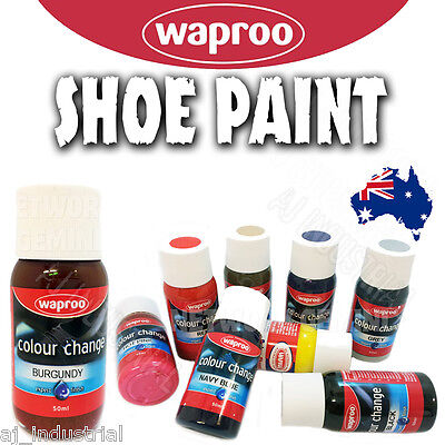 WAPROO COLOUR CHANGE SHOE PAINT - RE COLOURING LEATHER & SYNTHETIC - Boots Shoes
