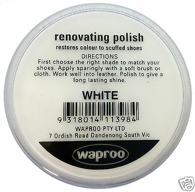 White Shoe Polish Cream Restore Colour To Leather Shoes / Boots / Bags Waproo