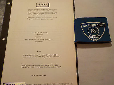 Dranetz Tm-102700 Series 606 Disturbance Analyzer Vol 1 Operators Manual