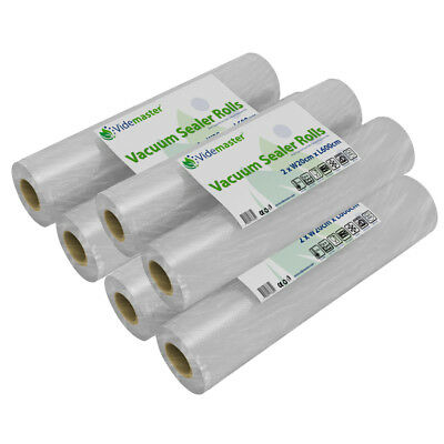 Vacuum Food Sealer Rolls - 20cm x 6m - from 1 to 12 roll pack - Best Ebay Offer