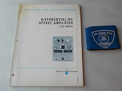 Hewlett Packard C03-1803A Differential/dc Offset Amplifier Service Manual