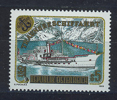AUSTRIA 1989 MNH SC.1461 Shipping on the Traunsee