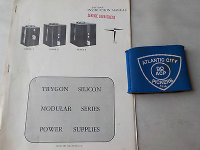 Trygon Ps6-500F Series 1 2 4 Power Supplies Instruction Manual