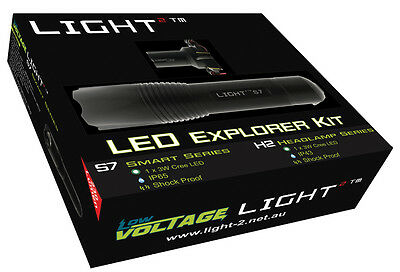 Light2 Pack Comes With H2 Headlamp & LED S7 Camping Hunting LED Torch 280M Beam