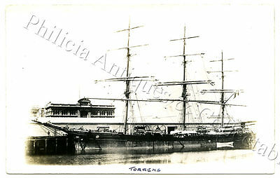 C1905 RP NPU POSTCARD CLIPPER SHIP 'TORRENS' PORT ADELAIDE WOOL STORES SA i63