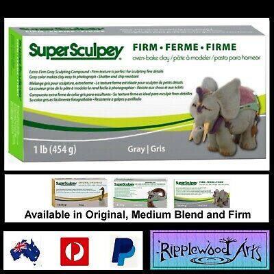 Super Sculpey FIRM - 1lb (454gm) Grey - Oven Bake Clay