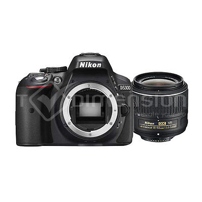 Nikon D5300 Black with 18-55mm VR II + AF 70-300mm G Twin Lens Kit S4479