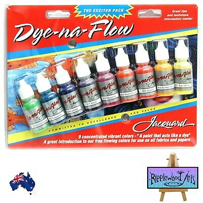 Jacquard DYE-NA-FLOW  Free flowing iquid fabric paint -  9  Color Starter Set