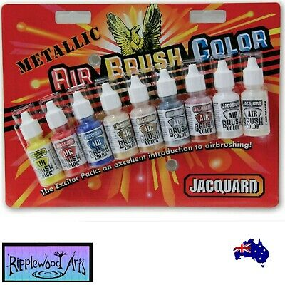 Jacquard AIR BRUSH COLORS - METALLIC -  9  Color Set