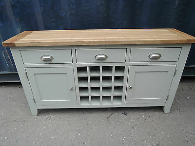 Vancouver Expressions Oak & Acacia Hardwood Wine Console 3 Drawer 2 Door Anb018