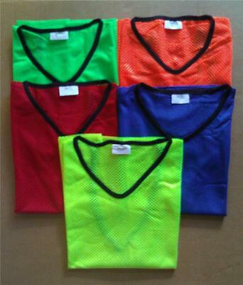 Sports Training Bibs / Vests - Soccer Touch Football Rugby - 3 Sizes - 5 Colours