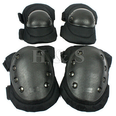 Tactical Military Army Elbow & Knee Pads Airsoft Paintball Skate Equipment Work