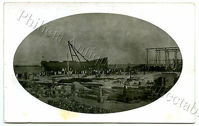 1921 Rp Npu Postcard Launching Of Ss 'eurimbla' Poole & Steel Osborne Yards I71