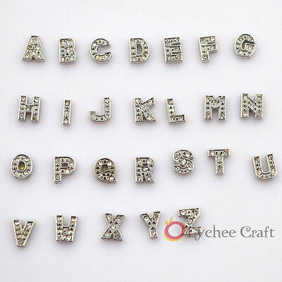 1 PC New Initial Letter Floating Locket Charms For Living Memory Floating Locket