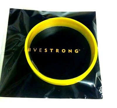 Genuine Livestrong Wrist Band Lance Armstrong Yellow L - Xl