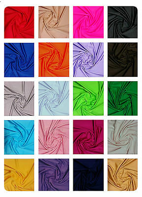"Plain Lycra Spandex Stretch Fabric Material - 150cm (59"") wide - Many Colours"