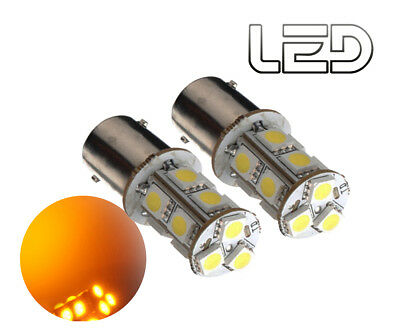 2 Ampoules BA15s P21w Orange 13 LED
