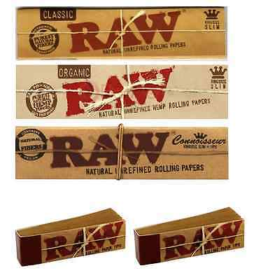 Raw Papers Kingsize, Organic, Roach Tips, Connoisseur, Combi , Rizla Alternative
