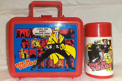 DICK TRACY LUNCHBOX & THERMOS / VGC