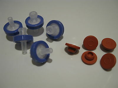 Syringe filter & injection port kit - for oyster mushroom liquid culture lids