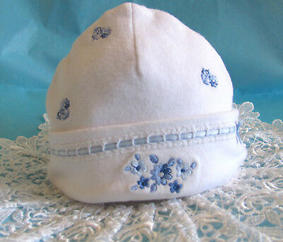 Carter's ~ Pretty Blue Collection ~ Baby Girl Bonnet ~Hat ~ Beanie