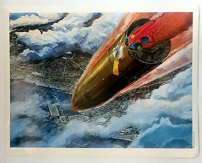 SUPERMAN: THE MOVIE ART - SUPERMAN DEFLECTING GUIDED MISSLE