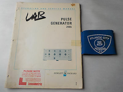 Hewlett Packard Model 214A Pulse Generator Operating/service Manual