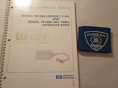 Hewlett Packard Model 18135A/18139A Interface Pods Operate Service Manual