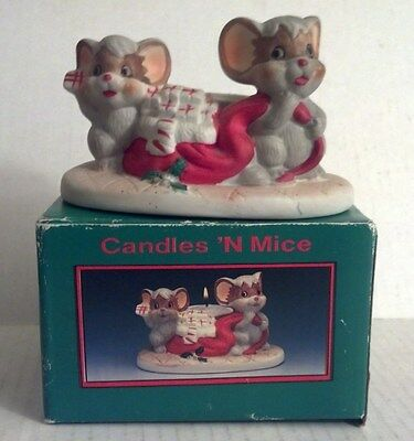 """Holiday Shopper """"Candles N Mice"""" Allegro Figurine"""