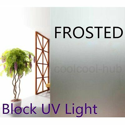 76cm 50cm Sand Blast Clear Privacy Frosted Frosting Removable Window Glass Film