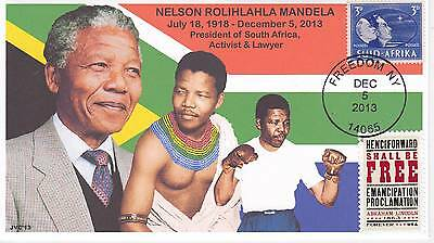 Jvc Cachets -  2013 Nelson Mandela Mourning/event Fdc Topical S. Africa Cover #4