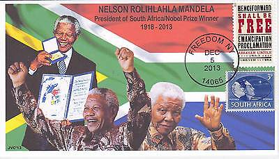 Jvc Cachets -  2013 Nelson Mandela Mourning/event Fdc Topical S. Africa Cover #3