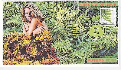 Jvc Cachets - 2014 Ferns Autumn Fern  Issue First Day Cover Fdc Plant Topical