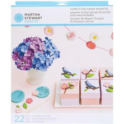 Martha Stewart crafters clay Nature bird flower  starter kit silicone mold set
