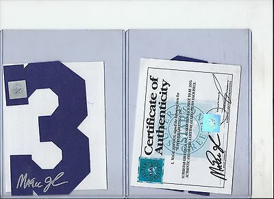 Magic Johnson Autographed Number #3 Purple W/ Silver Signiture Ssg Authenticated