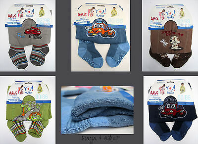 BOYS COTTON SLIP RESISTANT SOLE TERRY THICK TIGHTS LEG WARMERS SOCKS 6m - 4yrs