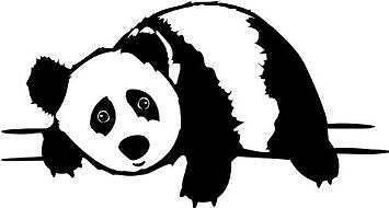 "Panda Bear Wall Decal | Removable Sticker | Kid's Bedroom Decor [CK66] 20""x10"""